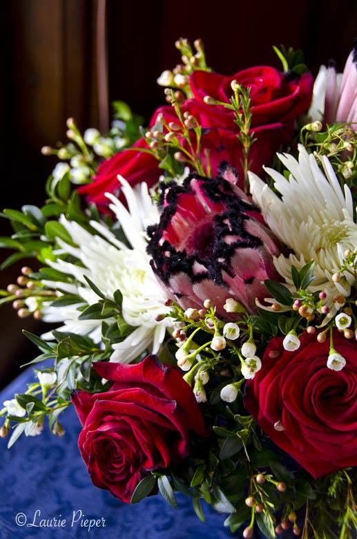RosesProteaMums&WaxFlowers