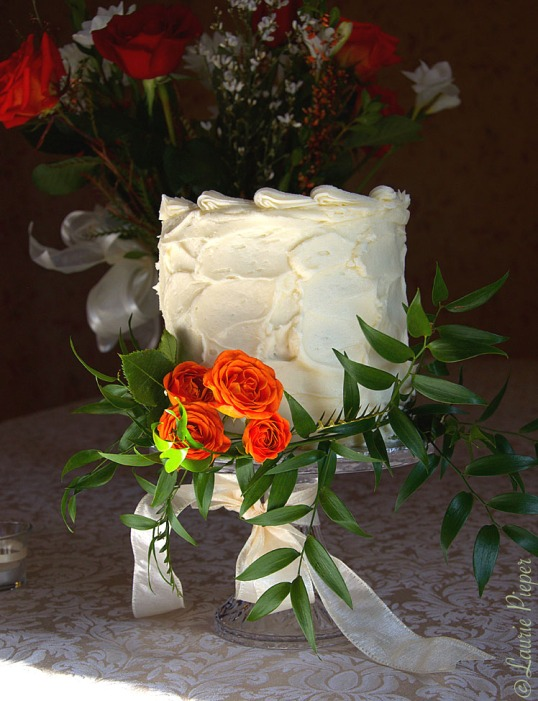 WeddingCakeOrange&Greenery